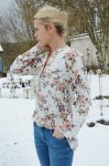 Blus med blommor, 2XL/3XL, Cat & Co